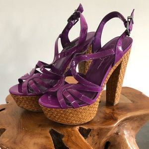 Jessic Simpson Wicker Wedges